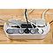 Organisateur de câbles blanc DLINE L. 325 x l. 125 mm