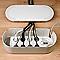Organisateur de câbles blanc L. 415 x l. 165 mm