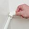 Raccords à clipser blancs moulure demi-circulaire 30x15 mm