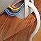 Tube flexible cache-câbles blanc 32 mm x 1,1 m