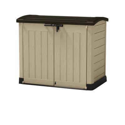 coffre de rangement 1200l carolina beige et marron castorama. Black Bedroom Furniture Sets. Home Design Ideas