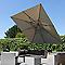 Parasol déporté EASY SUN taupe 320 x 320 cm