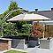 Parasol déporté EASY SUN taupe ø375 cm