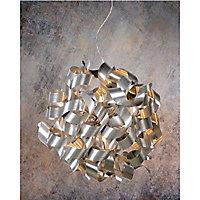 Suspension Lucide Atomita argent l.65 cm x H.130 cm