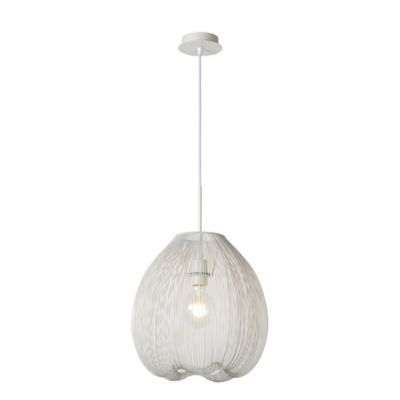 Suspension Lucide Wirio blanc l.35 cm