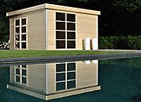 Abri de jardin bois Lindo 2 XL, 14,34 m² ép.28 mm