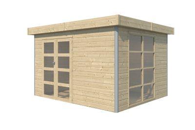 Abri de jardin bois Lindo 2 L  10 12 m² ép.28 mm