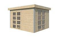 Abri de jardin bois Lindo 2 L, 10,12 m² ép.28 mm