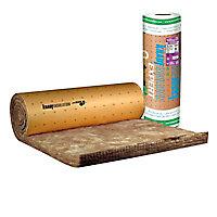 Rouleau laine de verre murs et toitures 032 kraft - 1,2 x 2,7 m ép.100 mm (vendu au rouleau)