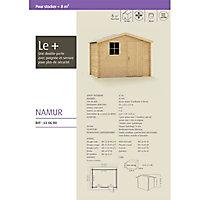 Abri de jardin en bois Namur, Ep. 19mm, 4,67m²