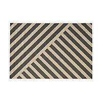 Tapis lignes grises 160 x 230 cm