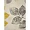 Tapis Feuilles beige, jaune et bleu 120 x 170 cm