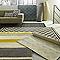 Tapis Campus à rayures jaune et gris 160 x 230cm