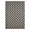 Tapis motifs losanges gris et taupe 120 x 170 cm