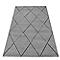 Tapis creusé losange gris 120 x 170 cm