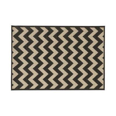 tapis graphique noir et cru 120 x 170 cm castorama. Black Bedroom Furniture Sets. Home Design Ideas
