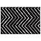 Tapis Valencia noir et blanc 160 x 230 cm