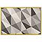 Tapis Valencia cadre jaune motifs géométriques 120 x 170 cm