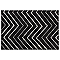 Tapis Valencia noir et blanc 120 x 170 cm