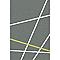 Tapis Rayures gris/jaune 120 x 170 cm