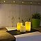 Set 3 bougies rondes tactiles H. 7,5 - 10 - 12,5 cm 0,13 W