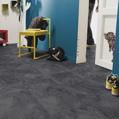 dalle pvc anthracite tarkett starfloor click50 slate 31 x 60 cm castorama. Black Bedroom Furniture Sets. Home Design Ideas