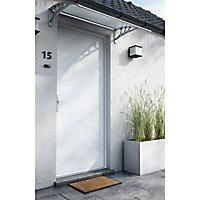 Porte d'entrée aluminium 4 ALU Léon blanc 90 x h.215 cm poussant droit