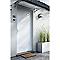 Porte d'entrée aluminium 4 ALU Léon blanc 90 x h.215 cm poussant gauche