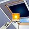 Store occultant motorisé fenêtre de toit Velux DSL S08 bleu