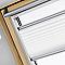 Store plissé fenêtre de toit VELUX 1016 304/M04 blanc
