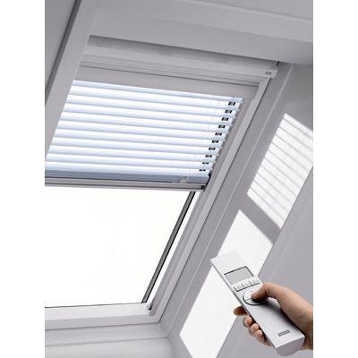 store vénitien télécommandé fenêtre de toit velux pml u04 blanc