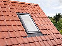 Raccord fenêtre de toit simple sur tuiles Velux EDW MK04 gris