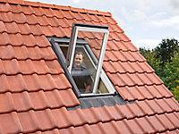 Raccord fenêtre de toit simple sur tuiles Velux EDW SK06 gris