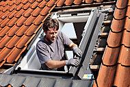 Raccord de remplacement fenêtre de toit Velux EW SK06 gris