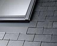Raccord fenêtre de toit simple sur ardoises Velux EDN CK02 gris