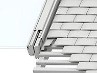 Raccord fenêtre de toit simple sur tuiles plates Velux EDP MK06 gris