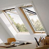 Fenêtre de toit à projection VELUX Tout Confort - bois/pin L. 114 x H. 118 cm (GPL 3057 SK06)