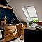 Fenêtre de toit à projection VELUX GPU Confort blanc SK06 114 x h.118 cm