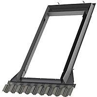 Raccord de remplacement fenêtre de toit sur tuiles Velux EW SK06 6000 gris