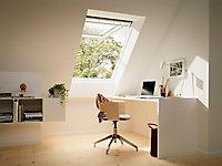Fenêtre de toit à projection VELUX Confort Whitefinish - bois peint en blanc L. 78 x H. 140 cm (GPL 2076 MK08)