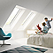 Fenêtre de toit à projection Velux GPL Confort blanc SK08 114 x 140 cm