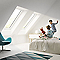 Fenêtre de toit à projection Velux GPL Tout confort blanc UK04 114 x 140 cm