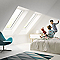 Fenêtre de toit à projection VELUX GPL Confort blanc UK04 134 x 98 cm