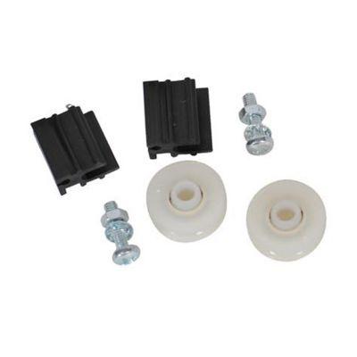 kit 2 roulettes et guides porte pour serre castorama. Black Bedroom Furniture Sets. Home Design Ideas
