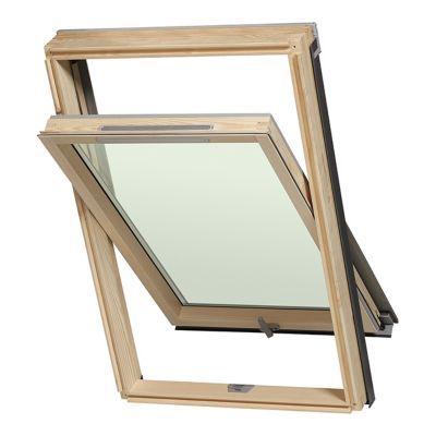 Fenêtre De Toit à Rotation Luminatec Double Vitrage Bois 78 X H98