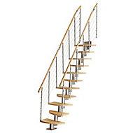 Escalier à pas alternés bois Inversio l.64 cm 11 marches hêtre