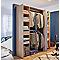Kit dressing chêne clair avec rideau H. 200 x l. 180 cm