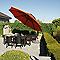 Parasol déporté en alu Easy-Sun ø375 cm terracotta