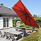 Parasol déporté en alu Easy-Sun 320 x 320 cm terracotta