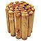 Bordure demi-rondin bois STELMET 200 x h.40 cm